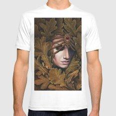 Mabon - goddess of fall MEDIUM White Mens Fitted Tee
