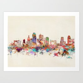 kansas city skyline Art Print
