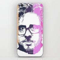 tim burton iPhone & iPod Skins featuring TIM BURTON IN COLORS by BURRO