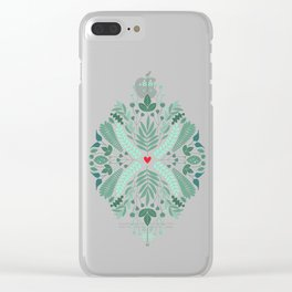 Minty Spring Clear iPhone Case