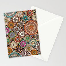 Colorful abstract tile pattern design Stationery Cards