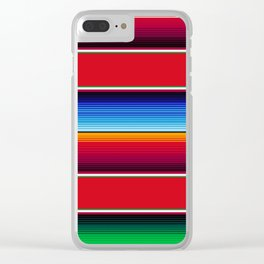 Traditional Mexican Serape in Red Multi Clear iPhone Case