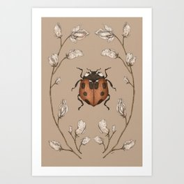 The Ladybug and Sweet Pea Art Print