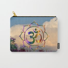 Trees Clouds Om Carry-All Pouch