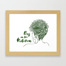 Peas in the Kitchen Framed Art Print