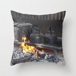 Camp oven Throw Pillow