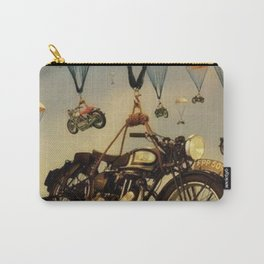 Vintage Motorcycle Show Parachute Advertising Poster Carry-All Pouch