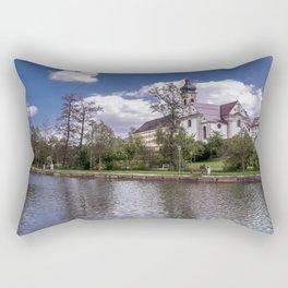 DE - Baden-Wurttemberg : Groggensee with view to St. Blasius Ehingen Rectangular Pillow