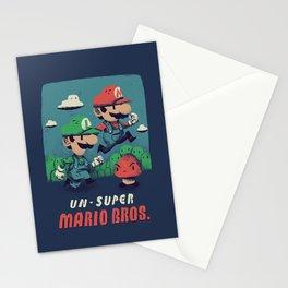 un-super bros Stationery Cards