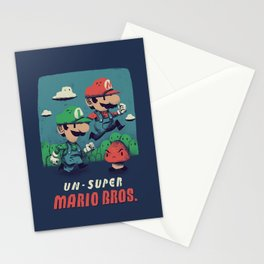un-super bros Stationery Cards