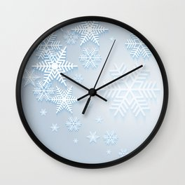 Snowflake background Wall Clock