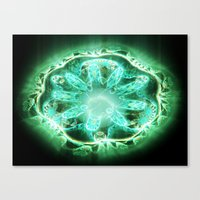 flower of life Canvas Prints featuring Flower life by Michal Dunaj / Fractal Store