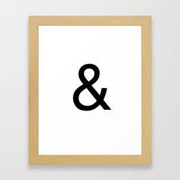 Ampersand: Helvetica Framed Art Print