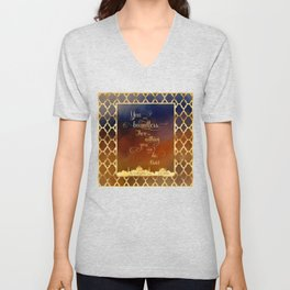 You are boundless. There is nothing you can't do. - Khalid Unisex V-Neck