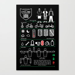 Cycling 101 - Midnight Edition Canvas Print