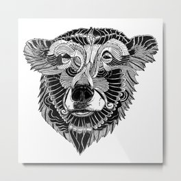 BEAR-HEAD Metal Print