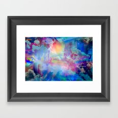 You Are entering a beautiful place called heaven  by Sherriofpalmsprings Framed Art Print