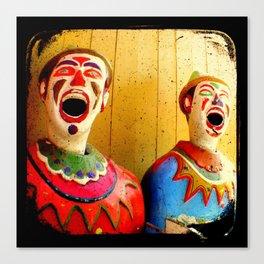 Carnival Clowns Canvas Print