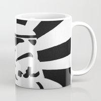 stormtrooper Mugs featuring StormTrooper by Shelly Lukas Art