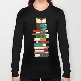 Owl Reading Rainbow Long Sleeve T-shirt