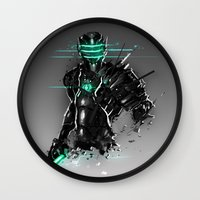 suit Wall Clocks featuring Omega Suit by Benedick Bana