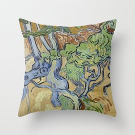 Tree Roots Throw Pillow