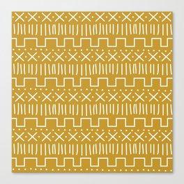 Mustard Mud Cloth Canvas Print