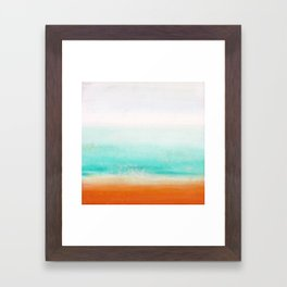 Waves and memories 02 Framed Art Print