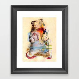 The Dancing Bear. Framed Art Print