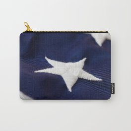 Focus On American Flag Star Carry-All Pouch