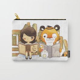 Little Girl and Little Tiger Carry-All Pouch