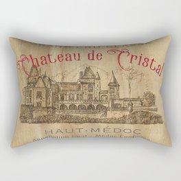 Barrel Wine Label 1 Rectangular Pillow
