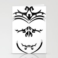 maori Stationery Cards featuring Maori skull by Soso Creation