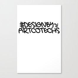 Artcotechsure: Design By Us (white) Canvas Print