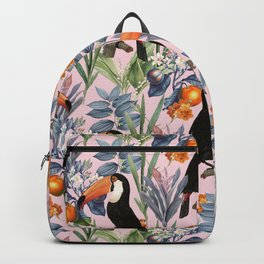 Tucan Garden #pattern #illustration Backpack
