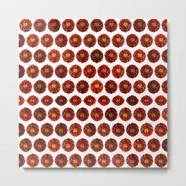 Marigold Cottage Red Flower Metal Print