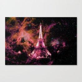 Paris Dreams Fuchsia Pink Peach Canvas Print