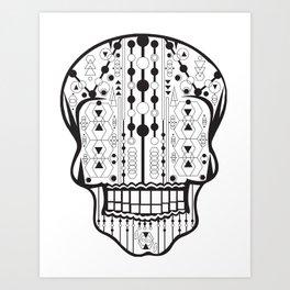 B/W Skull 2 Art Print