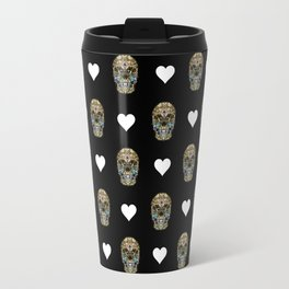 Say It with Skull and Hearts Travel Mug