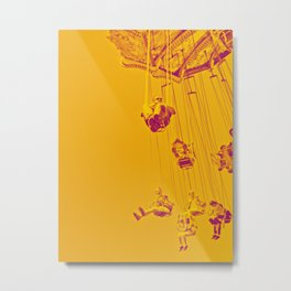 Yellow Carussell Metal Print