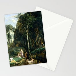 Camille Corot Diana and Actaeon Stationery Cards