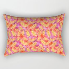 Australian Native Floral Print - Grevillea Flowers Rectangular Pillow