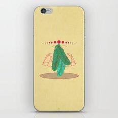 blugreenish circled feathers iPhone & iPod Skin