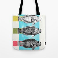 fish Tote Bags featuring Fish by Danny Ivan