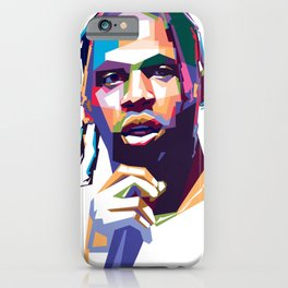 Portrait Travis hiphop popart iPhone Case