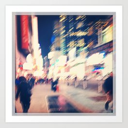 Rushing thru Times Square... Art Print