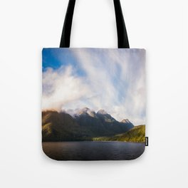 Glorious Light early in the Morning on Lake Manapouri Tote Bag