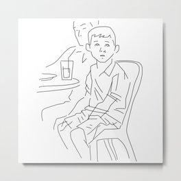 Finger Drawing 78 - Watching Metal Print