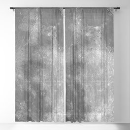 Black & White Moon Sheer Curtain