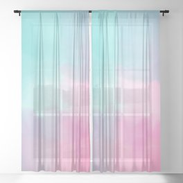 Summer is coming 5 - Unicorn Things Collection Sheer Curtain